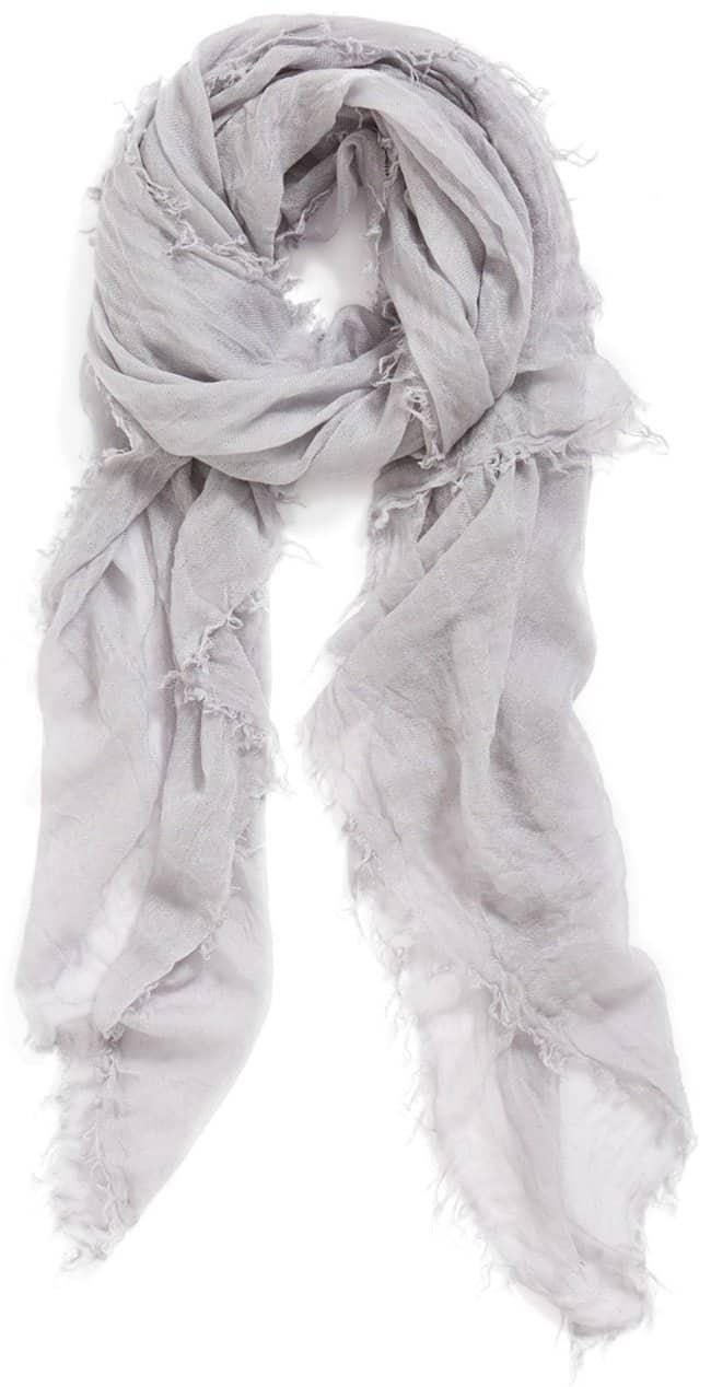 halogen crinkled cashmere scarf
