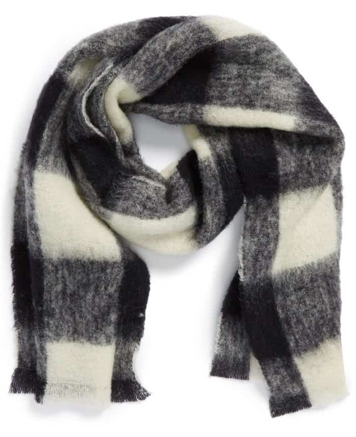 Maison Scotch Wool Blend Checkered Scarf