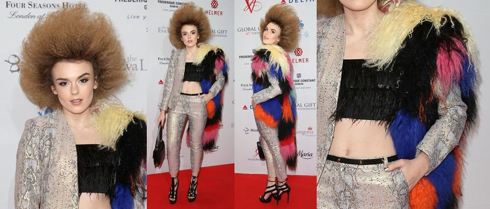 Tallia Storm Overdecorates Herself at the London Global Gift Gala