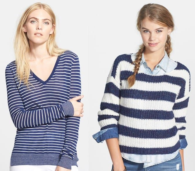 vince mini stripe sweater-horz