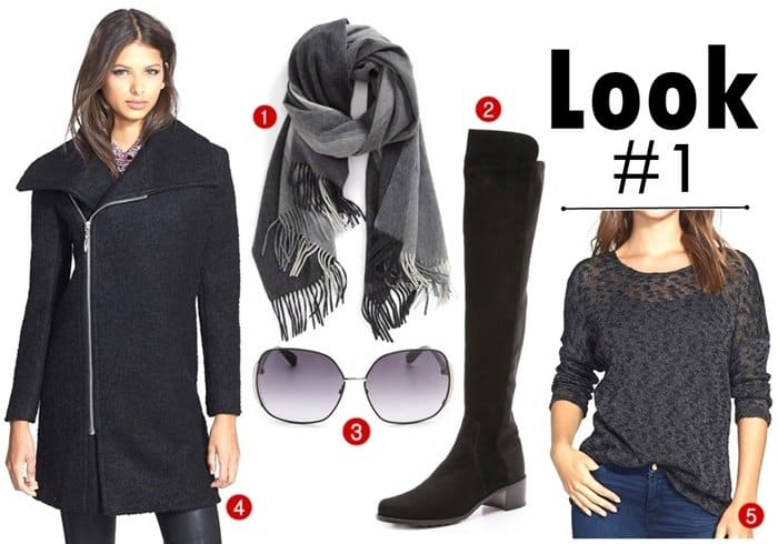 Thigh High Boots Fall Style Scarf