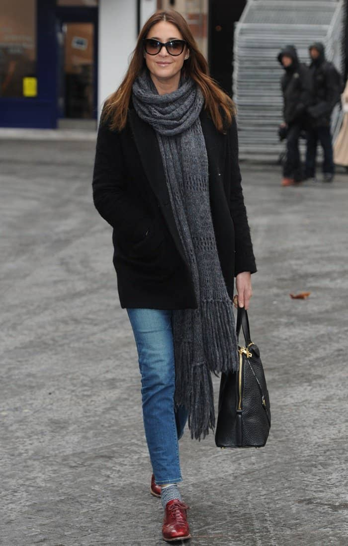 Lisa Snowdon out in London