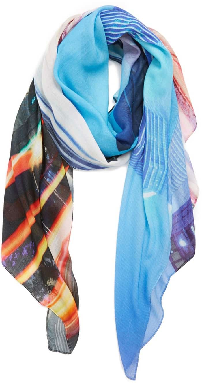 michael stars fly by digital print scarf