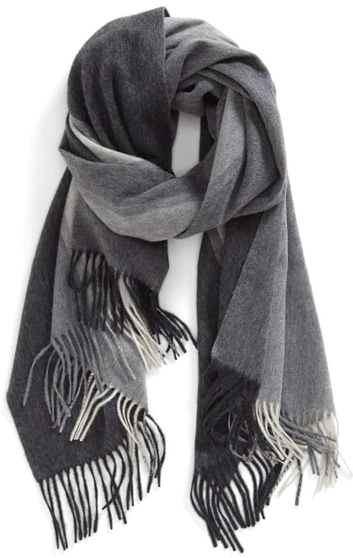 nordstrom collection colorblock cashmere scarf