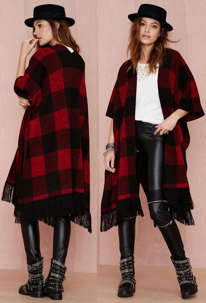nastygal dallas plaid wrap 2-horz