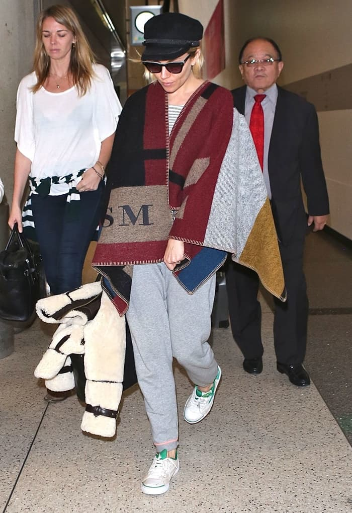 Sienna Miller departs Los Angeles from LAX