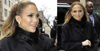 How to Wear a Black Fur Scarf Like Jennifer Lopez