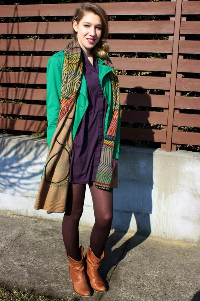 eniko schmidt desigual scarf style layering blogger look february 2015