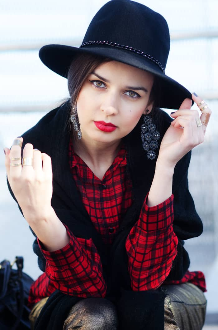 mariya marinova scarf western hipster edgy style blogger february2015