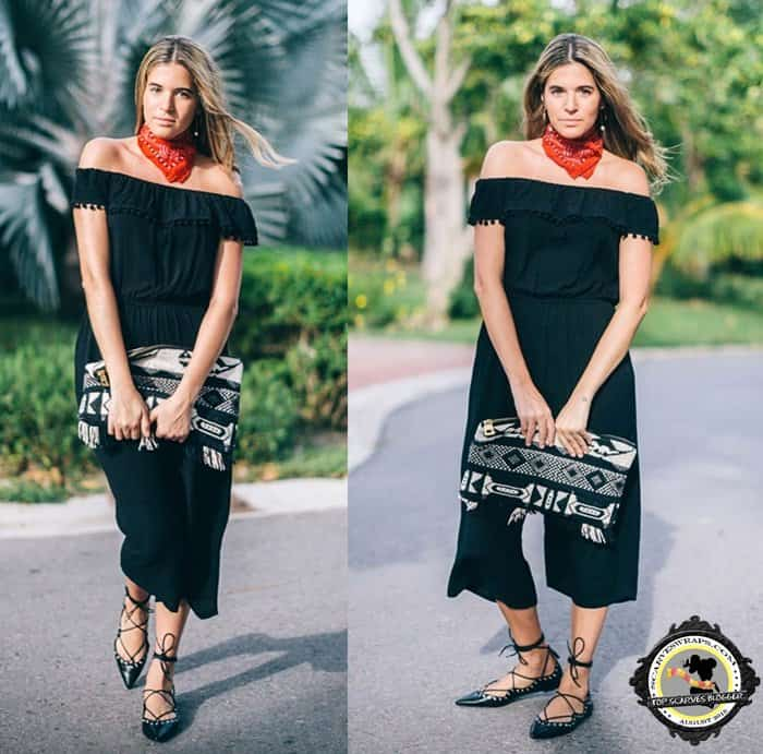 Maristella created a look that is boho, sophisticated, and Western-inspired