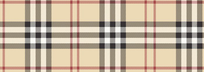 Burberry's distinctive Nova Check pattern