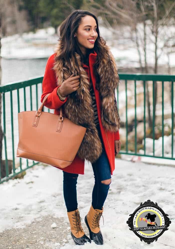 a keen sense of style fur scarf blogger fall 2015 november 28