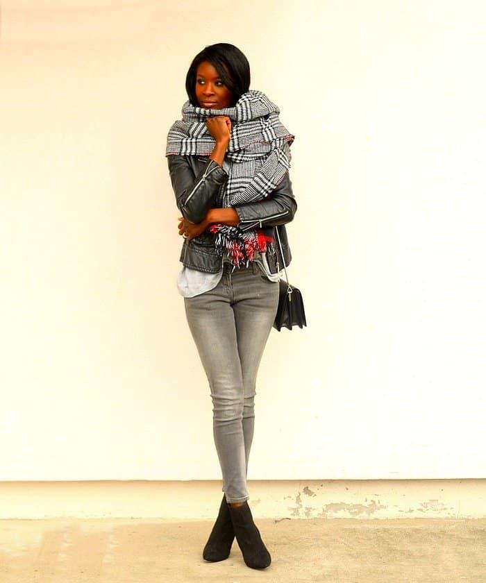 assitan style blogger scarf plaid scarf december 2015