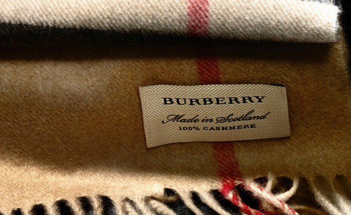 Official Burberry scarf tag