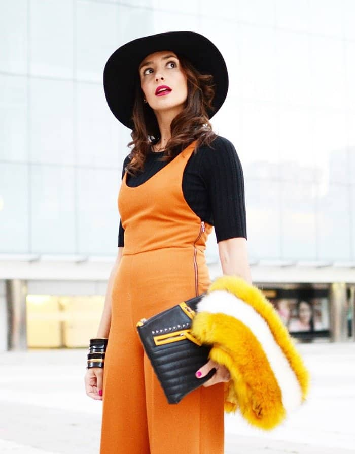An orange outfit like this one will get you attention anywhere