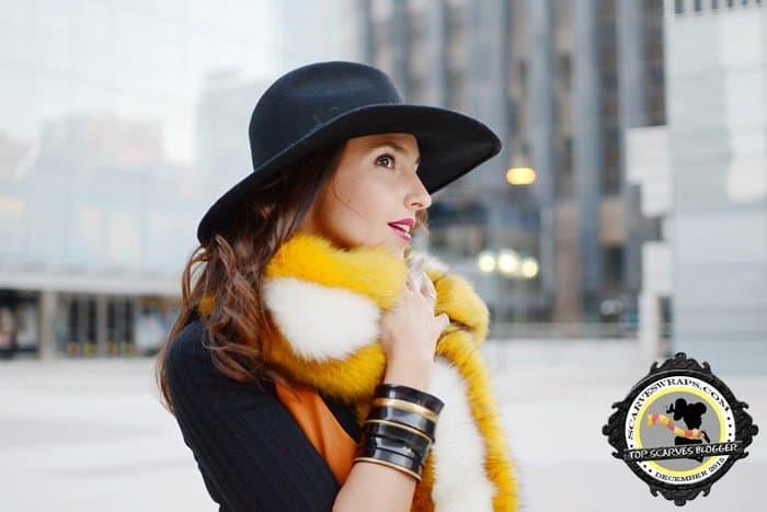 silvia rodriguez december 2015 fur scarf style