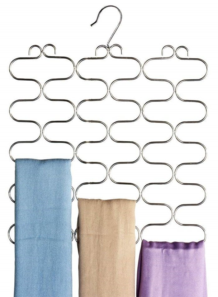 Loop Scarf / Belt / Tie Organizer Hanger Holder
