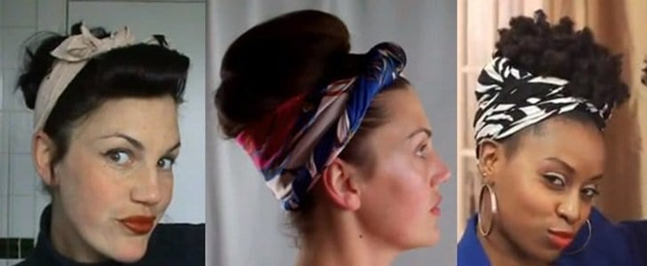 How to Wear a Head Scarf Like a Retro Pin-Up Doll: 4 Chic Ways
